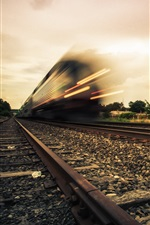 Preview iPhone wallpaper Train, railroad, high speed
