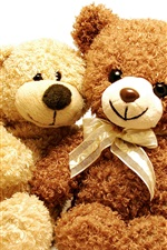 Preview iPhone wallpaper Two toy bears, teddy