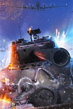 War Thunder, tanque, lutador, inverno, neve