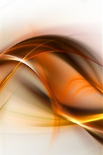 Preview iPhone wallpaper Wavy lines, abstract picture