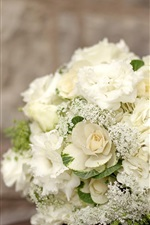 Preview iPhone wallpaper White hydrangea flowers, bouquet