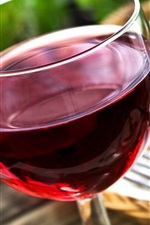 Preview iPhone wallpaper Wine, glass cup, fork, pizza