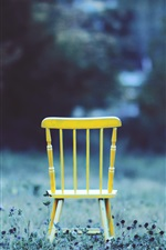 Preview iPhone wallpaper Yellow chair, grass