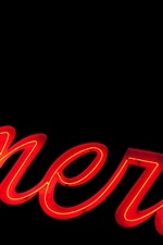 Preview iPhone wallpaper America, neon lights