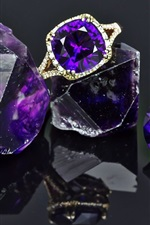 Preview iPhone wallpaper Amethyst, gems, ring, shine
