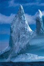 Preview iPhone wallpaper Baffin Bay, iceberg, sea, Greenland