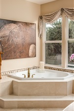Preview iPhone wallpaper Bathroom, window, mirror