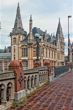 Belgium, Ghent, bridge, street, buildings