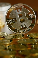 Preview iPhone wallpaper Bitcoin, currency, coins