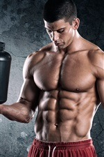 Preview iPhone wallpaper Bodybuilder, man, muscles, power