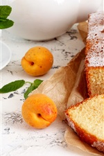 Preview iPhone wallpaper Bread, apricots, food