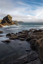 Brittany, France, coast, stones, sea