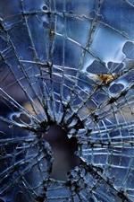 Preview iPhone wallpaper Broken glass