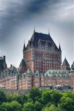 iPhone обои Канада, Квебек, замок, деревья, облака