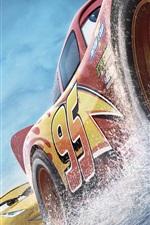 Carros 3, velocidade, respingos de água