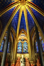 Preview iPhone wallpaper Chapel, stained glass, hall