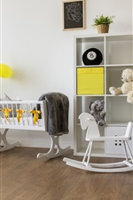 Preview iPhone wallpaper Children room, toys, white style