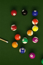 Preview iPhone wallpaper Colorful balls, Billiards, table