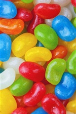 Preview iPhone wallpaper Colorful candy, pills, sweet food