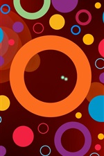 Preview iPhone wallpaper Colorful circles, rings, abstraction