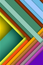 Preview iPhone wallpaper Colorful crossing, layers, shadows, abstract