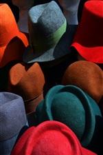 iPhone fondos de pantalla Sombreros coloridos