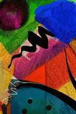 Preview iPhone wallpaper Colorful painting, abstract