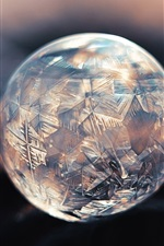 Preview iPhone wallpaper Crystal ball, ice