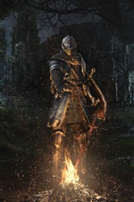 Preview iPhone wallpaper Dark Souls Remastered, armor, knight, sword
