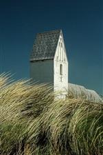 Preview iPhone wallpaper Denmark, grass, building, sky