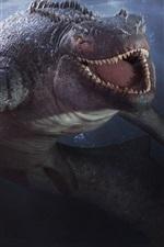 Preview iPhone wallpaper Depth, video games, shark, teeth