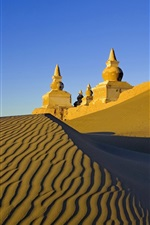 Preview iPhone wallpaper Desert, castle, sand