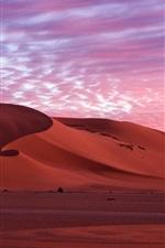 iPhone fondos de pantalla Desierto, nubes, mañana