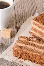 Preview iPhone wallpaper Dessert, cake, tiramisu, coffee, food