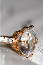 Preview iPhone wallpaper Diamond ring, book