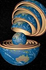 Terra, muitas camadas, espaço