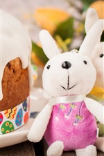 Preview iPhone wallpaper Easter, cake, rabbit toys