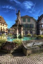 France, Eguisheim, monument, city, buildings