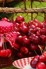 Cereja fresca, fruta, compota