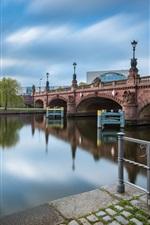 Preview iPhone wallpaper Germany, Spree, Berlin, bridge, river, city