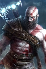 Preview iPhone wallpaper God of War 4, video games