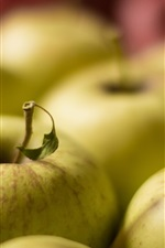 Preview iPhone wallpaper Green apples, fresh fruit