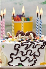 Preview iPhone wallpaper Happy Birthday, cake, candles