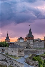 Preview iPhone wallpaper Kamianets-Podilskyi fortress, castle, Ukrainian