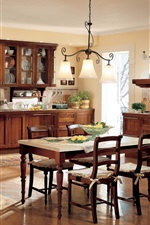 Preview iPhone wallpaper Kitchen, dining room, interior, table, furniture