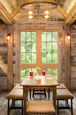 Preview iPhone wallpaper Kitchen, wooden house, table, lights