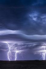미리보기 iPhone 배경 화면 번개, 폭풍, 구름, 어둠
