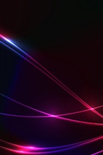 Preview iPhone wallpaper Lines, colorful, abstract, black background