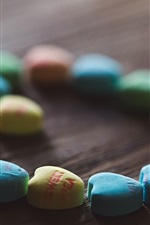 Preview iPhone wallpaper Love heart pills, colorful