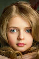 Preview iPhone wallpaper Lovely blonde little girl, face